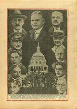 President the United States Herbert Hoover Capital Washington 1929 ILLUSTRATION