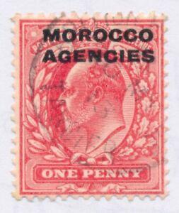 MOROCCO AGENCIES SG32 1907 1d SCARLET Fine used