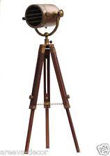 Wooden Nautical Antique Finish Spot light Tripod Lighting Floor Lamp Lighting