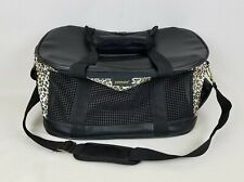Petmate Soft Sided Kennel Carrier /  Cat Dog / Black Leopard / Size: S (to 15#)
