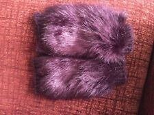 Asos Red Faux Fur Ladies Gloves New One Size