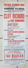 Beatles Blokker / Netherland 1964, Concert Poster, Tour, Mint, John Lennon