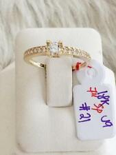 SOLID 18K Japan Gold Engagement Ring - Size 7 /  2.1g