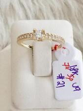 SOLID 18K Japan Gold Engagement Ring - Size 7 /  2.1g