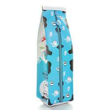 Creative Fruit Milk Carton Pencil Case PU Waterproof Student Storage Kids Gift