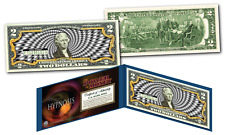 HYPNOSIS Power of Money 3-D Effect B/W Genuine Legal Tender U.S. $2 Bill w/ COA
