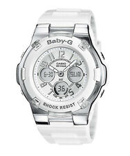 NEW Casio Baby-G - Womens Analogue-Digital White Watch -  BGA-110-7BER