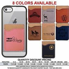 Personalized Leather Cell Phone Wallet Custom Valentines Day Gifts for Him Her