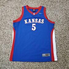 Nike Elite Kansas Jayhawks Basketball Jersey #5 Blue KU Size Large