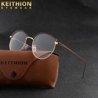Unisex Vintage Round Eyeglass Frame Glasses Retro Spectacles Clear Lens Eyewear