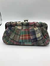 Tommy Hilfiger Hobo Plaid Clutch With Kiss Ball Closure