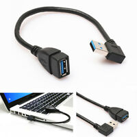 BG_ FT- USB 3.0 Female to Male Type A Right Angle 90 Degree Adapter Extension Ca