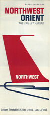 Northwest Orient Airlines system timetable 12/1/65 [0112]