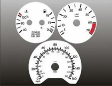 1997-1999 Mercedes W210 E320 E420 E430 Dash Cluster White Face Gauges