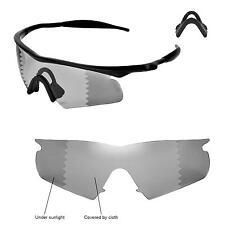 Walleva Polarized Transition Lenses and Black Nosepads 4 Oakley M Frame Hybrid