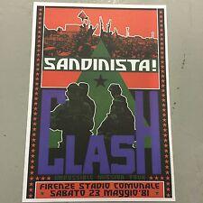 THE CLASH - CONCERT POSTER IMPOSSIBLE MISSON TOUR 1981    (A3 SIZE)