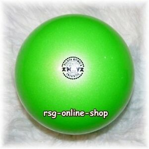 RSG Ball JUNIORBALL Gymnastikball HELLGRÜN neongrün METALLIC 150-170mm 300g NEU!