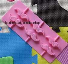 Mustache Chocolate Lollipop Candy Clay Fondant Silicone Mold Molder
