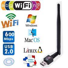 600M USB 2.0 WLAN-Router Wireless-Adapter Netzwerk-LAN-Karte w/5dBI Antenne