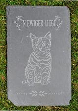 Tiergrabstein Grabstein Trauerstein Tiergrabstein Gedenkstein Naturstein Katze