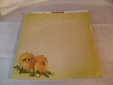Pumpkin scrap book paper 25 pack with lines on back for recipes