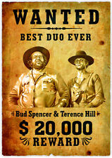 Quadro con disegno Bud Spencer e Terence Hill Wanted
