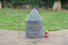 Vintage old galvanized water carrier bottle flask metal can - FREE POSTAGE