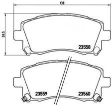 Brembo Bremsbelagsatz Scheibenbremse P78010 für SUBARU NISSAN