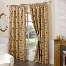 Banbury Traditional Vintage Tapestry Floral Jacquard Design Fully Lined Curtain