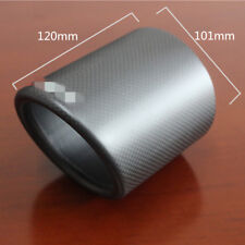 100% Carbon 101mm Car Exhaust Pipe Tip Cover Case Holder Shell Skin Matte Black