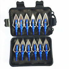 USA 12Pcs Hunting Broadheads 100Grain Arrow Archery Arrowheads Crossbow Tips