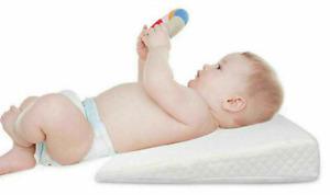 Baby Wedge Pillow Anti Reflux Colic Cushion For Pram Crib Cot Bed Flat Head Foam