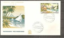 FRANCE FRANKREICH FDC POLYNESIE PAPEETE 1964 PA N°9 OBLITERE USED 1ER JOUR