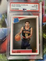 2018 Panini Donruss 198 Trae Young RC Rated Rookie PSA 10 GEM MINT