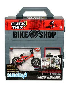 Flick Trix Bike Shop Sunday Display Case And Bike Assortment BMX Red Rare New