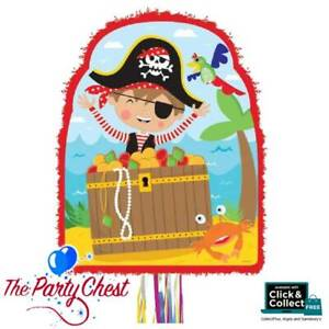 LITTLE PIRATE Character Pull String Pinata Pirate Party Game Decoration P33539