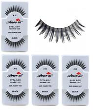 6 Pairs AmorUs 100% Human Hair False Eyelashes # 42 compare Red Cherry