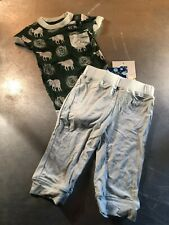 Kickee Pants Bamboo One Piece & Pant Set- Sheep Design- Size: 6-12 Months- NWT