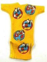 Barbie Vintage Walt Disney Yellowish Orange Nightshirt w/Mickey & Donald
