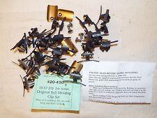 55 56 57 Chevy 210 2 Dr Sedan Door & Original Quarter Belt Molding Trim Clip Set