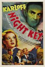 NIGHT KEY Movie POSTER 27x40 B Boris Karloff Jean Rogers Warren Hull Samuel S.