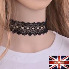 Gothic Victorian Tattoo Choker Necklace Black Lace Steampunk Tassel Gift  UK