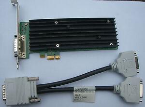 Nvidia Quadro NVS 290 NVS290 PCIe x1 DMS-59 Dual Head Inkl. Adapter Kabel #