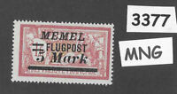 #3377  5.00M Flugpost  MNG stamp ScC27 1922 Memel Lithuania Prussia Germany WWI