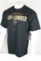 Under Armour Men's Lay The Lumber Baseball Loose Fit T Shirt Size XL Black