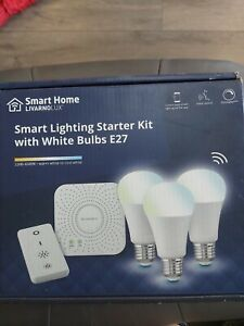 Smart home livorno lux smart Lighting Starter Kit With White Bulbs New In Box