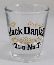 Jack Daniel's Whiskey Shot Glass Old No 7 Libbey Clear Black Gold New