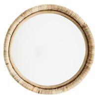 MADAM STOLTZ Spiegel rund zum Aufhängen aus Bambus, Ø30cm, Ethno Boho Look