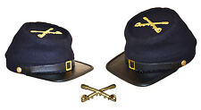 American Civil War Acw  Enlisted Union Cavalry Kepi With Badge Large 58/59cms