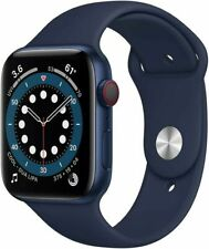 Apple Watch Series 6 44 mm Blue Aluminum Case with Deep Navy Sport Band.Only GPS
